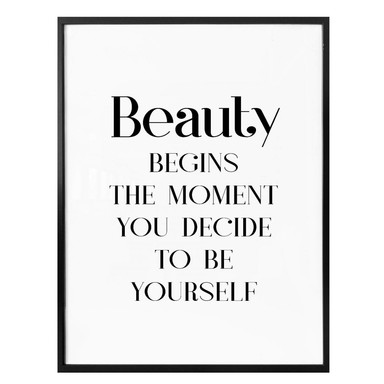 Poster Beauty - be yourself