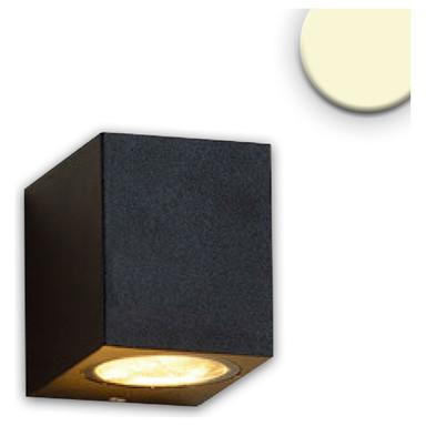 Wandleuchte 1xGU10. IP54. sandschwarz, exkl. Leuchtmittel
