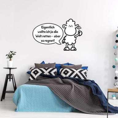 Wandsticker sheepworld Worthelden Welt retten