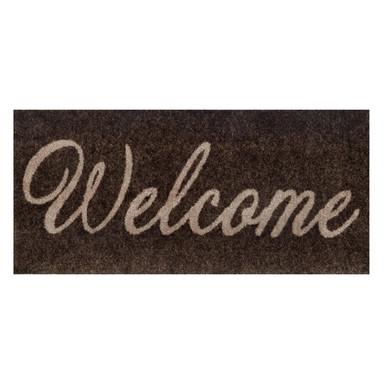 Wash&Dry Decor Fussmatte Welcome brown 30x70cm