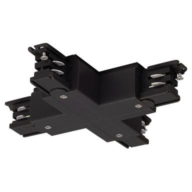 3-Phasen S-Track, Aufbauschiene, X-Verbinder, schwarz