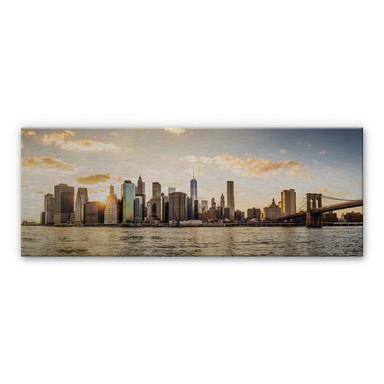 Alu-Dibond Bild mit Silbereffekt Sundown in Manhattan