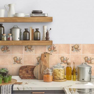 Fliesendekofolie Kanne für die Küche - selbstklebend - 2x0,45 m - Bild 1