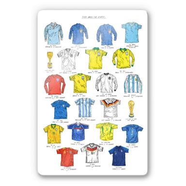 Glasbild Sparshott - Fussballtrikots Weltmeisterschaft