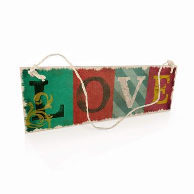 Holzschild Vintage Love