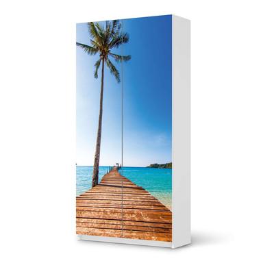 Klebefolie IKEA Pax Schrank 201cm Höhe - 2 Türen - Caribbean