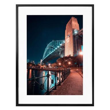 Poster Sydney bei Nacht - Die Brücke