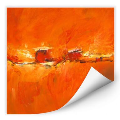Wallprint Schüssler - Composition in Orange