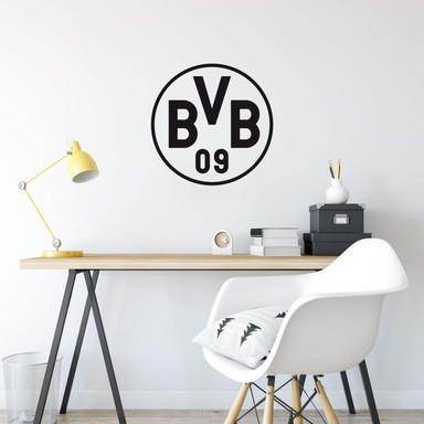 Wandsticker BVB Logo schwarz