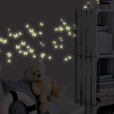 Leuchtsticker Schmetterlinge