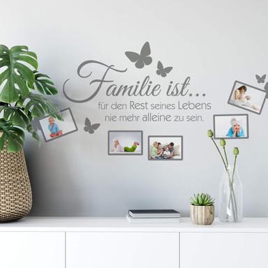 Wandtattoo Familie ist... mit Platz für Fotos