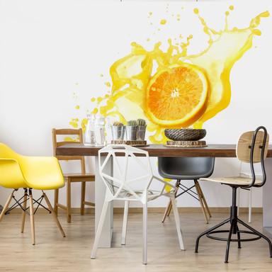 Fototapete Splashing Oranges