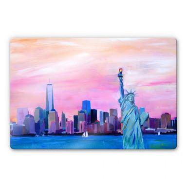 Glasbild Bleichner - Manhattan Skyline