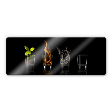 Glasbild Frutos Vargas - The Four Elements - Panorama