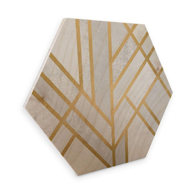 Hexagon - Holz Birke-Furnier - Fredriksson - Goldene Geometrie