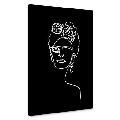 Leinwandbild Hariri - Frida Kahlo negativ
