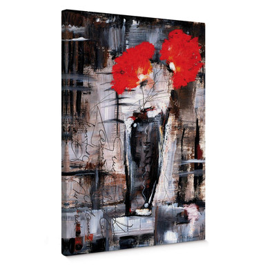Leinwandbild Niksic - Leuchtend Rot