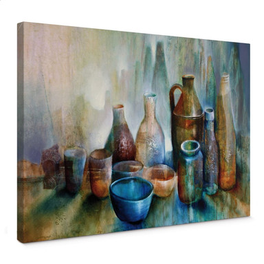 Leinwandbild Schmucker - Stillleben mit blauer Schale