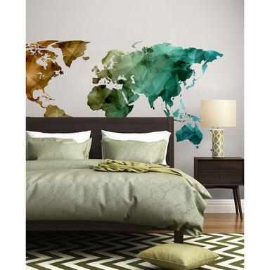 Livingwalls Fototapete Designwalls World Graphic Weltkarte