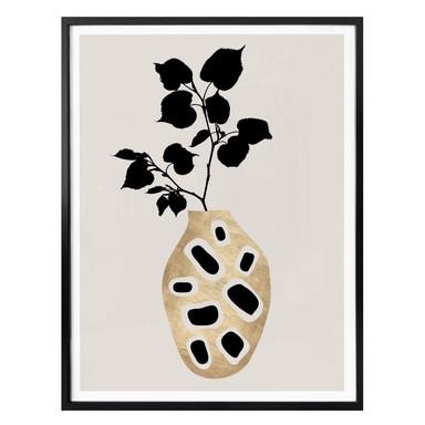 Poster Kubistika - botanisches Stillleben