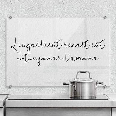 Spritzschutz L'ingrédient secret est toujours l'amour