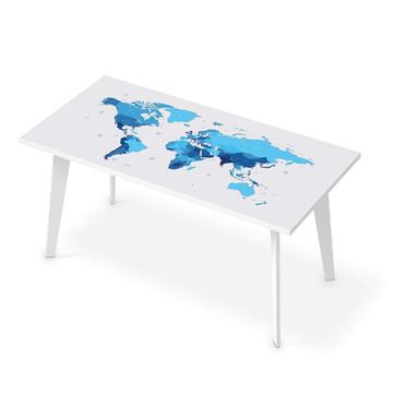 Tischfolie - Politische Weltkarte