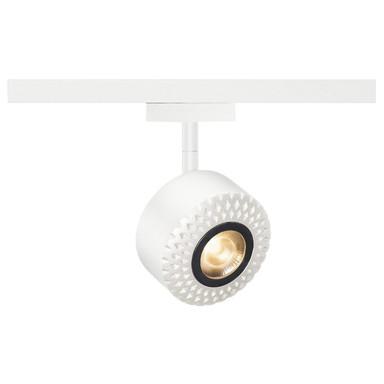 Tothee LED Strahler für 2Phasen Hochvolt-Stromschiene, 3000K, weiss, 50°, inkl. 2 Phasen-Adapter