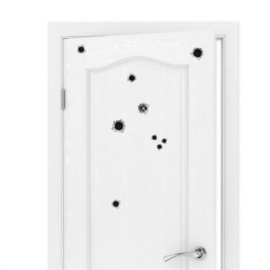 Wandtattoo Türspion Einschussloch (11-teilig)