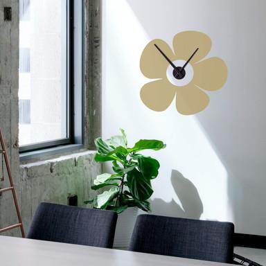 Wandtattoo + Uhr Blume Uhr