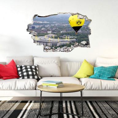 3D Wandtattoo BVB Heissluftballon