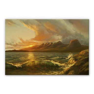 Alu-Dibond-Goldeffekt aerroscape - England: Seven Sisters