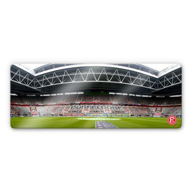 Glasbild Fortuna Düsseldorf Espirt Arena Innenaufnahme