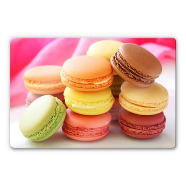 Glasbild Sweet Macarons