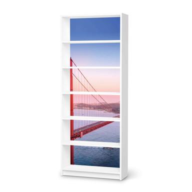 Klebefolie IKEA Billy Regal 6 Fächer - Golden Gate- Bild 1