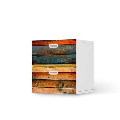 Klebefolie IKEA Stuva / Fritids Kommode - 2 Schubladen - Wooden- Bild 1