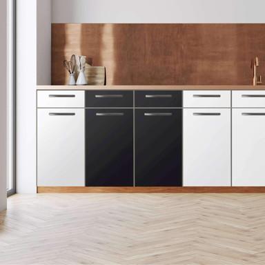 Küchenfolie - Unterschrank 80cm Breite - Schwarz