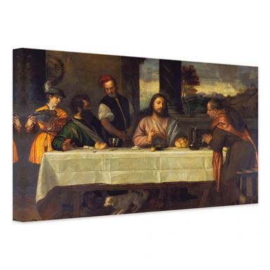 Leinwandbild Tizian - Das Mahl in Emmaus