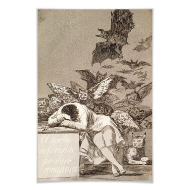 Poster de Goya - Der Schlaf der Vernunft gebiert Ungeheuer