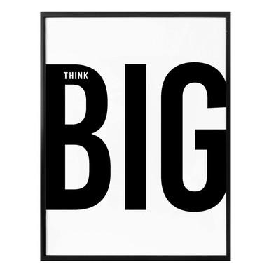 Poster Think big - white