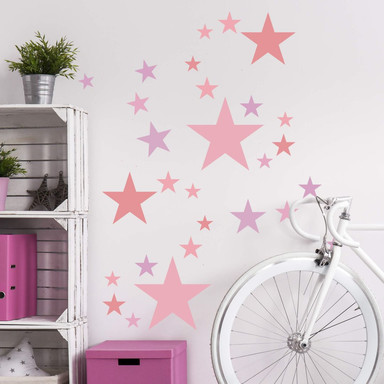 Wandtattoo - Sterne Set Pastellrosa - Bild 1