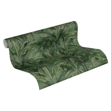 A.S. Création Vliestapete Greenery Tapete mit Palmenprint in Dschungel Optik grün