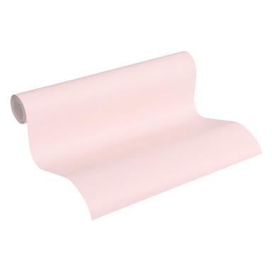 A.S. Création Vliestapete mit Glitter glatte Wand Glamour Edition Tapete Uni metallic, rosa