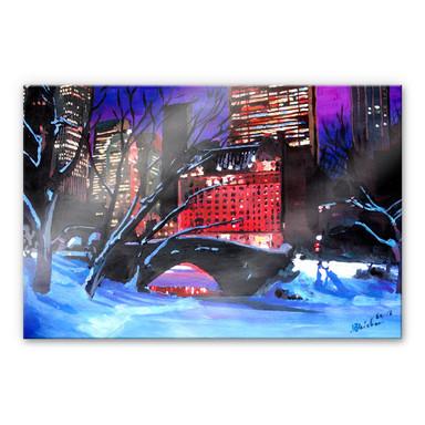 Acrylglasbild Bleichner - Der Central Park im Winter