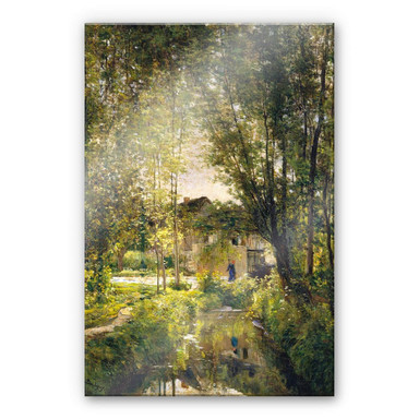 Acrylglasbild Daubigny - Landschaft mit Sonnenlicht