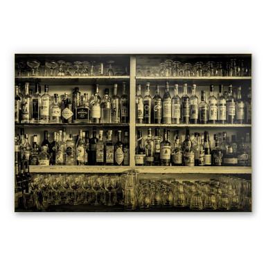 Alu-Dibond-Goldeffekt - Klein - The Classic Bar