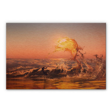 Alu-Dibond-Kupfereffekt aerroscape - Feuer Surfer