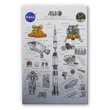 Alu-Dibond-Silbereffekt Sparshott - Apollo 11