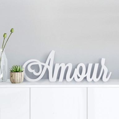 Dekobuchstaben 3D Amour
