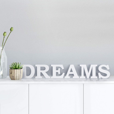 Dekobuchstaben 3D Dreams 1
