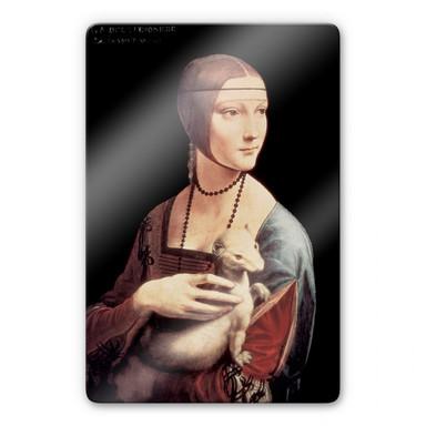 Glasbild da Vinci - Die Dame mit dem Hermelin